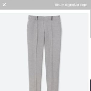 Uniqlo EZY ankle pant, gray size XL